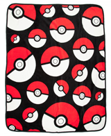 Pokemon Pokeball Plush Throw