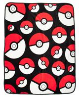 Pokemon Pokeball Plush Throw
