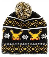 Pokemon Pikachu Fair Isle Pom Beanie