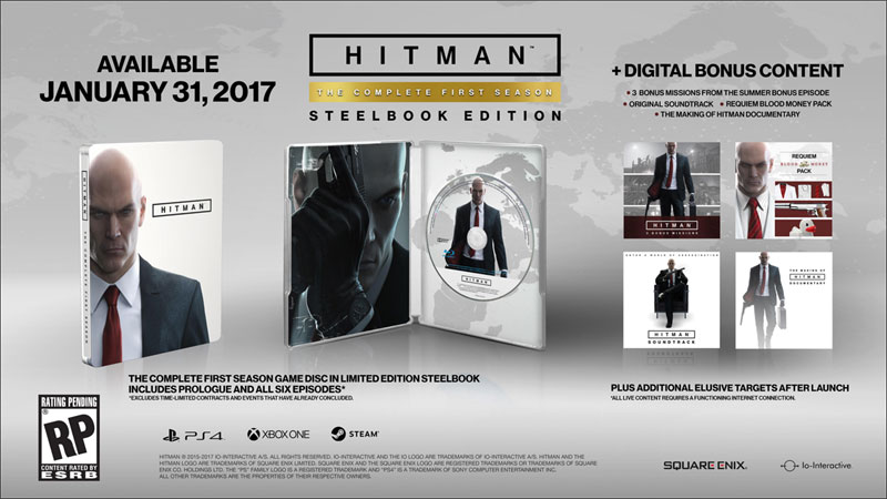 Hitman First Season Steelbook Ed