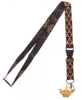 Legend of Zelda Shield Lanyard With Metal Crest Charm