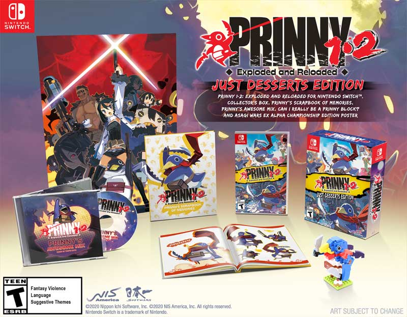 Switch Prinny 1 and 2 Exploded and Reloaded Just Desserts Edition all items