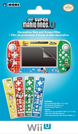 Wii U New Super Mario Bros U Skin and Screen Filter