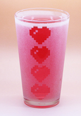Arts & Crafts: Legend of Zelda Hearts Logo Custom-made 16oz Glass