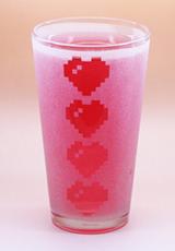 Arts & Crafts: Legend of Zelda Hearts Logo Custom-made 16oz Glass