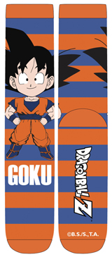 Dragon Ball Z Chibi Goku Stripe Unisex Crew Socks