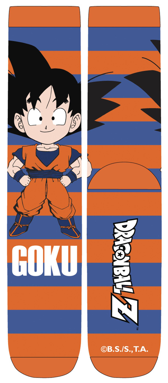 Dragon Ball Z Chibi Goku Stripe Unisex Crew Socks