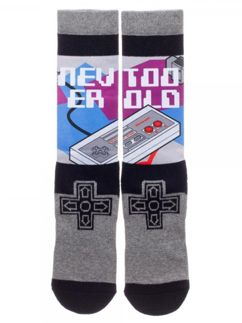 Nintendo Controller Sublimated Panel Crew Socks