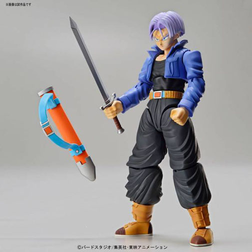 Dragon Ball Z Super Saiyan Trunks Figure-Rise Model Kit with the blade that killed the evil Freeza!