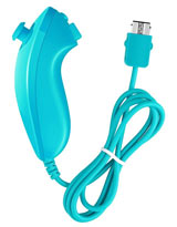 Nintendo Wii and Wii U Nunchuk Controller Blue