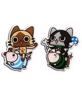 Monster Hunter Airou & Merarou on Poogie Pin Set