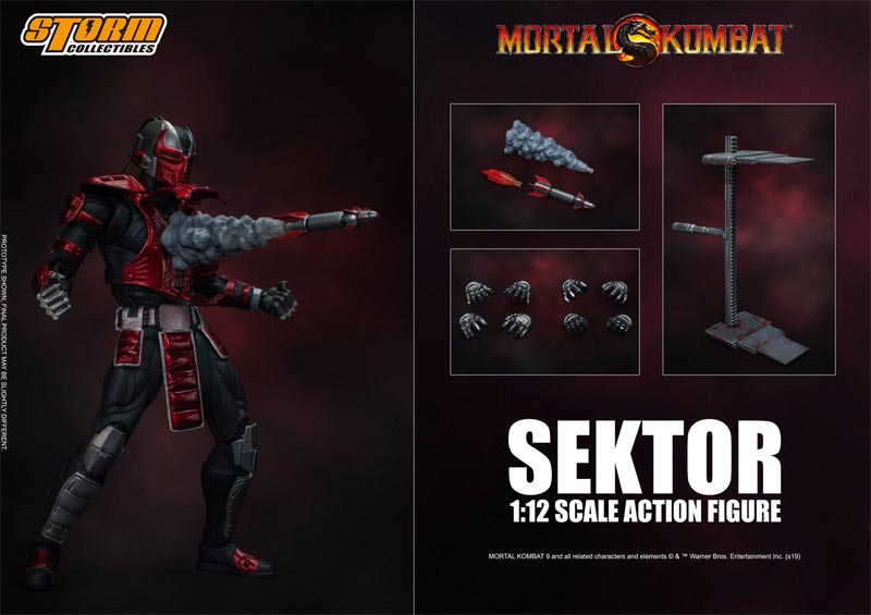Mortal Kombat Sektor Storm Collectibles Action Figure additional poses