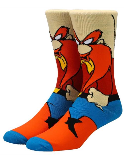 Looney Tunes Yosemite Sam 360 Character Crew Socks