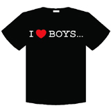 Yaoi I Love Boys T-Shirt LG
