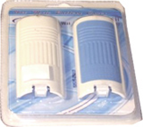Nintendo Wii Remote Battery Cover (2 Pack - Blue & White)