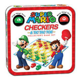 Super Mario Bros Collector's Edition Checkers & Tic Tac Toe Set