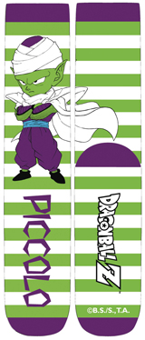 Dragon Ball Z Chibi Piccolo Stripe Unisex Crew Socks