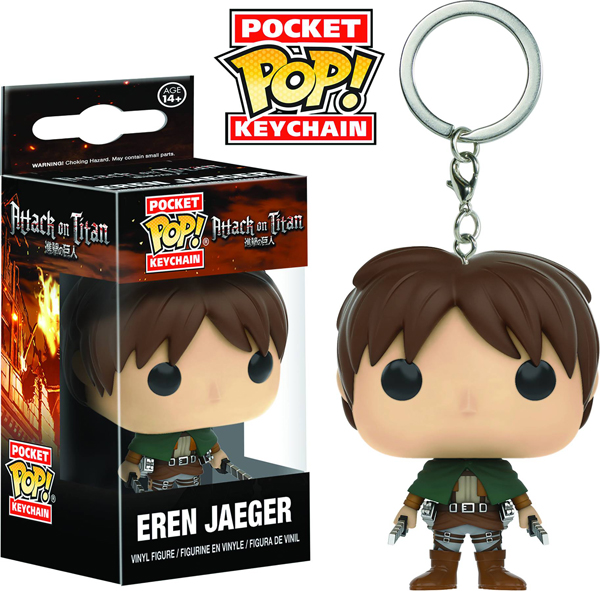 Pocket Pop Attack on Titan Eren Jaeger Vinyl Figure Keychain