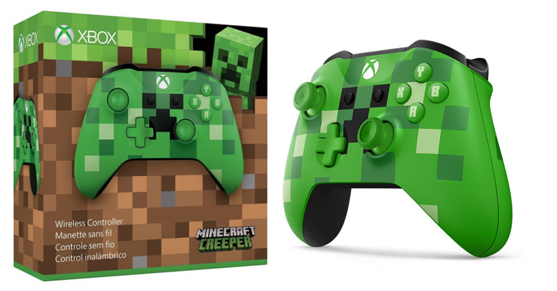 Xbox One Wireless S Minecraft Creeper Controller Extra Images