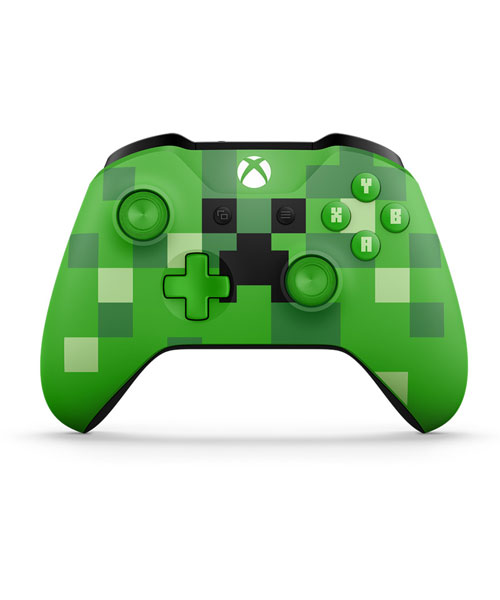 Xbox One Wireless S Minecraft Creeper Controller