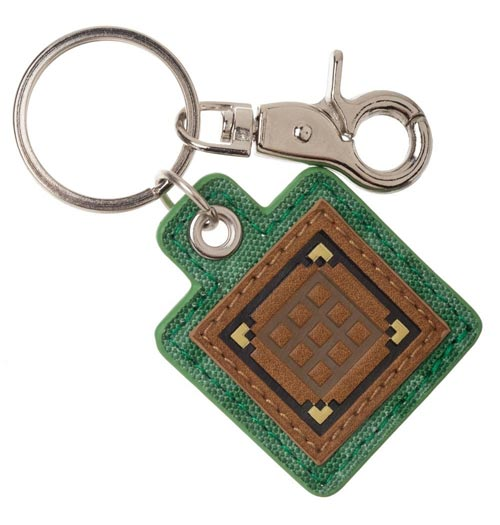 Minecraft Crafting Table Keychain