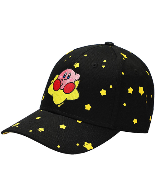 Kirby Stars Embroidered Pre-Curved Snapback Hat