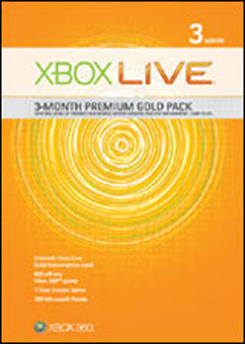 Xbox 360 Live 3 Month Premium Gold Pack by Microsoft