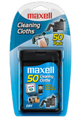 CD/DVD Disc Cleaning Cloths 50-Pack by Maxell