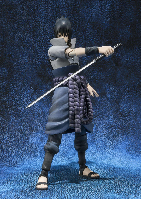 Naruto Shippuden Sasuke Uchiha S.H. Figuarts Action Figure with katana
