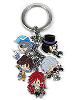 Black Butler 5 Charms Keychain
