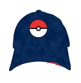 Pokemon Pokeball Adjustable Blue Hat