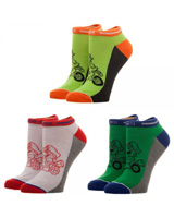 Mario Kart Good Guys Ankle Socks 3 Pack