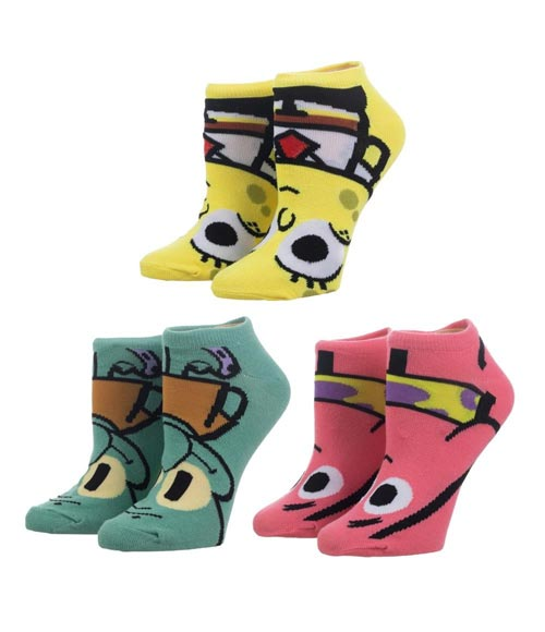 Spongebob Squarepants Ankle Socks 3 Pack