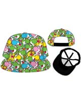 Super Mario Yoshi Youth Flat Bill Snapback Hat