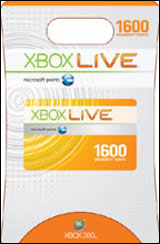 Xbox 360 Live 1600 Live Points by Microsoft