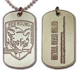 Metal Gear Solid 3 Fox Hound Dog Tag Necklace