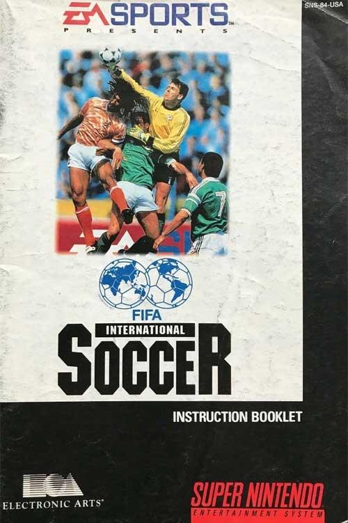 FIFA International Soccer (Instruction Manual)