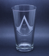 Arts & Crafts: Assassin's Creed Logo Custom-made 16oz Glass