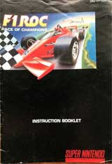 F1 ROC: Race of Champions (Instruction Manual)
