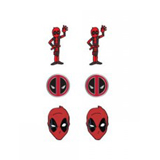 Marvel Deadpool Earrings 3 Pack Set