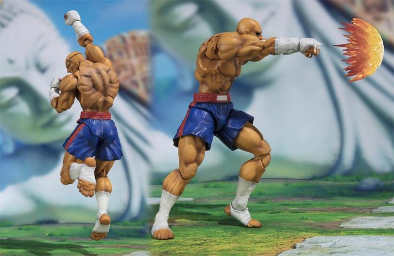 Street Fighter V Sagat SH Figuarts AF additional poses