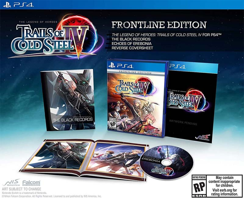 PS4 Legend of Heroes Trails of Cold Steel IV Frontline Edition all items