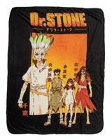 Dr Stone Cast Fleece Throw