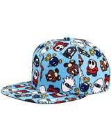 Super Mario Enemies Flat Bill Snapback Hat