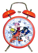 Naruto Group Shot Twin Bell Alarm Clock
