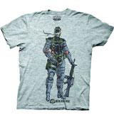 Metal Gear Solid: Peace Walker Naked Snake Grey T-Shirt LG