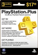 PlayStation Plus 3 Month Subscription Card