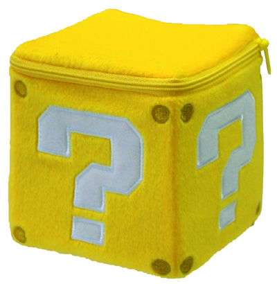 Super Mario Bros Coin Box 5 Inch Plush