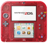 Nintendo 2DS System Crystal Red