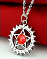 Black Butler Faustian Contract Symbol Red Necklace